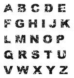 Alfabeto del Grunge stock de ilustración