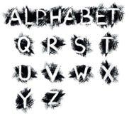 Alfabeto del Grunge Foto de archivo