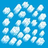 Alfabeto del hielo Fotografía de archivo libre de regalías
