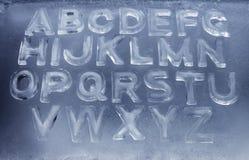 Alfabeto del hielo Fotos de archivo libres de regalías