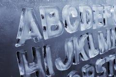 Alfabeto del hielo Foto de archivo libre de regalías