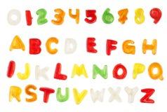 Alfabeto del Jellybean fotografía de archivo libre de regalías