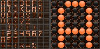 Alfabeto del LED Imagen de archivo libre de regalías
