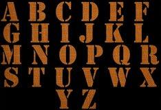 Alfabeto del material Imágenes de archivo libres de regalías