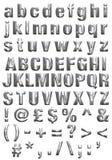 Alfabeto del metal Imagen de archivo libre de regalías