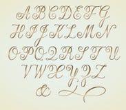 Alfabeto del monogramma di Copperplatse Immagine Stock