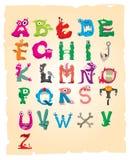 Alfabeto del monstruo Fotografía de archivo libre de regalías