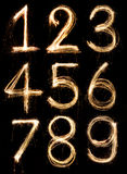 Alfabeto del número Imagen de archivo