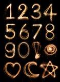 Alfabeto del número Fotos de archivo