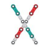 Alfabeto del nuevo hilandero antiesfuerzo popular del juguete Carta X Ilustración del vector ilustración del vector