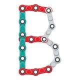 Alfabeto del nuevo hilandero antiesfuerzo popular del juguete Letra B Ilustración del vector stock de ilustración