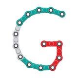 Alfabeto del nuevo hilandero antiesfuerzo popular del juguete Letra G Ilustración del vector stock de ilustración