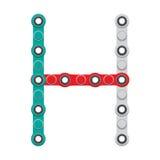 Alfabeto del nuevo hilandero antiesfuerzo popular del juguete Letra H Ilustración del vector ilustración del vector