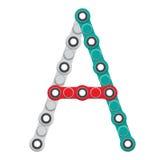 Alfabeto del nuevo hilandero antiesfuerzo popular del juguete Letra A Ilustración del vector stock de ilustración