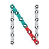Alfabeto del nuevo hilandero antiesfuerzo popular del juguete Letra N Ilustración del vector stock de ilustración