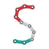 Alfabeto del nuevo hilandero antiesfuerzo popular del juguete Letra S Ilustración del vector stock de ilustración