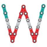 Alfabeto del nuevo hilandero antiesfuerzo popular del juguete Letra W Ilustración del vector stock de ilustración