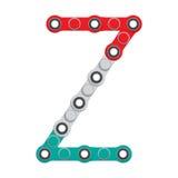 Alfabeto del nuevo hilandero antiesfuerzo popular del juguete Letra Z Ilustración del vector libre illustration