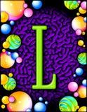 Alfabeto del partido - L Imagen de archivo libre de regalías