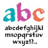 Alfabeto del pennello. Vettore. Fotografia Stock