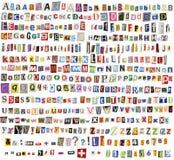 Alfabeto del periódico Fotografía de archivo