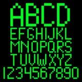 Alfabeto del pixel Fotografía de archivo libre de regalías