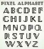 Alfabeto del pixel Immagini Stock Libere da Diritti