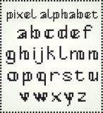 Alfabeto del pixel Imágenes de archivo libres de regalías