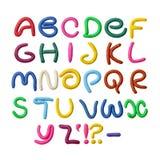 Alfabeto del Plasticine Fotografia Stock Libera da Diritti