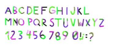Alfabeto del plasticine di colore sul bianco Immagini Stock