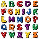 Alfabeto del punto de polca Imagen de archivo libre de regalías