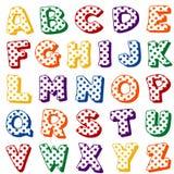 Alfabeto del punto de polca sobre blanco ilustración del vector