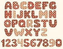 Alfabeto del remiendo del vintage Fotografía de archivo