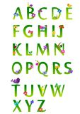 Alfabeto del resorte Foto de archivo libre de regalías