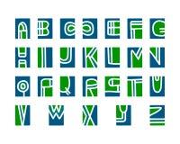 Alfabeto del ritaglio, elementi lino tagliati printmaking di vettore su fondo colorful illustrazione vettoriale