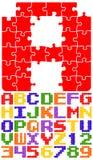 Alfabeto del rompecabezas fotos de archivo libres de regalías