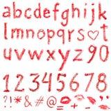 Alfabeto del rossetto Fotografia Stock Libera da Diritti