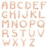 Alfabeto del shell Imagen de archivo libre de regalías