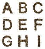 Alfabeto del té Foto de archivo libre de regalías