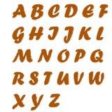 Alfabeto del testo della pelliccia Fotografie Stock Libere da Diritti