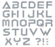 Alfabeto del tornillo Foto de archivo libre de regalías