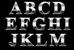 Alfabeto del trazo de pie del cromo Fotos de archivo libres de regalías