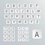 Alfabeto del vector Foto de archivo