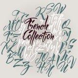 Alfabeto del vector Cartas drenadas mano Fotografía de archivo libre de regalías