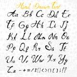 Alfabeto del vector Cartas drenadas mano Foto de archivo
