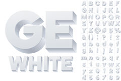 Alfabeto del vector de las letras simples 3d Imagenes de archivo