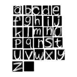 Alfabeto del vector del ejemplo Lett minúsculo inglés dibujado mano Imagen de archivo libre de regalías