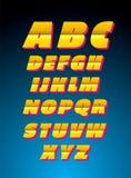Alfabeto del vector Estilo retro Imagen de archivo libre de regalías