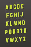 Alfabeto del vector fuente del estilo 3D Foto de archivo libre de regalías