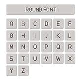 Alfabeto del vector, ronda simple Imagen de archivo